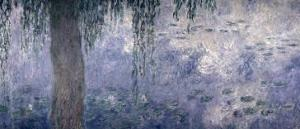 Waterlilies: Morning with Weeping Willows, 1914-18 (Right Section) by Claude Monet