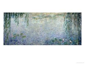 Waterlilies: Morning with Weeping Willows, Detail of the Central Section, 1915-26 by Claude Monet