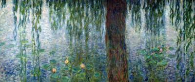 Waterlilies: Morning with Weeping Willows, Detail of the Left Section, 1915-26 by Claude Monet