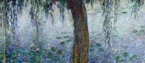 Waterlilies: Morning with Weeping Willows, Detail of the Right Section, 1915-26 by Claude Monet