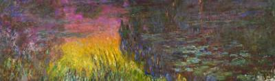Waterlilies, Sunset by Claude Monet