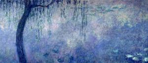 Waterlilies: Two Weeping Willows, Left Section, 1914-18 by Claude Monet