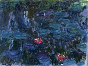 Waterlilies with Reflections of a Willow Tree, 1916-19 by Claude Monet