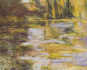 Waterlily Pond and Japanese Bridge by Claude Monet