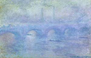 Waterloo Bridge: Effect of the Mist, 1903 by Claude Monet