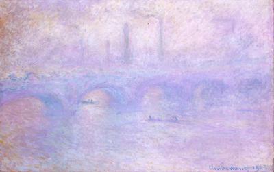Claude Monet (Waterloo Bridge, Fog Effect) Art Poster Print