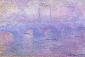 Waterloo Bridge in Fog, 1899-1901 by Claude Monet