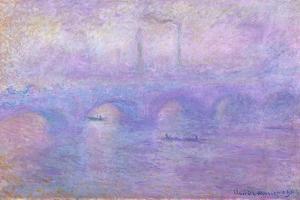 Waterloo Bridge in Fog, 1899-1901 by Claude Monet