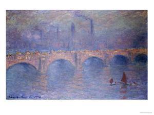 Waterloo Bridge, Misty Sunshine by Claude Monet