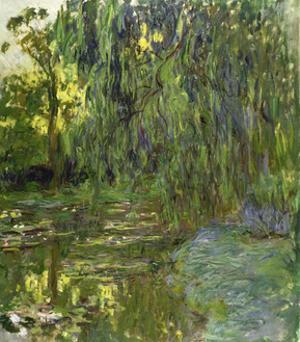 Weeping Willows, the Waterlily Pond at Giverny, C.1918 by Claude Monet