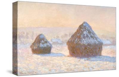 Wheatstacks, Snow Effect, Morning, 1891 by Claude Monet