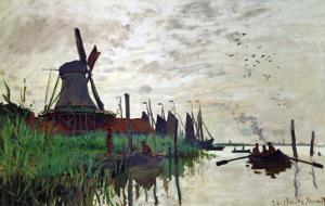 Windmill at Zaandam (Netherlands), 1871 by Claude Monet