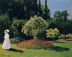 Woman in the Garden, Sainte-Adresse, 1867 by Claude Monet