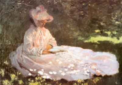 Woman Reading by Claude Monet