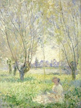 Woman Seated under the Willows, 1880 by Claude Monet
