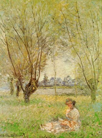 Woman Under the Willows by Claude Monet