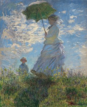 Woman with a Parasol, 1875 by Claude Monet