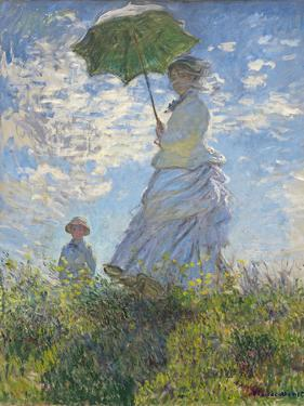 Woman with a Parasol - Madame Monet and Her Son, 1875 by Claude Monet