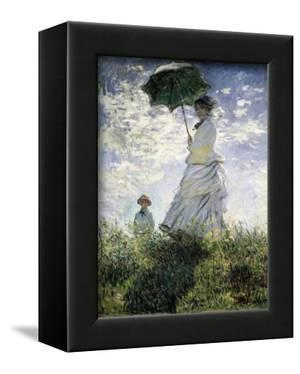 Woman with a Parasol - Madame Monet and Her Son by Claude Monet