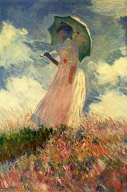 Claude Monet (Woman with a Parasol, Study) Art Poster Print