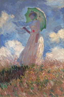 Woman with a Parasol Turned to the Left by Claude Monet