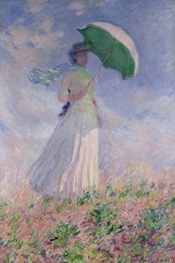 Woman with a Parasol Turned to the Right, 1886 by Claude Monet