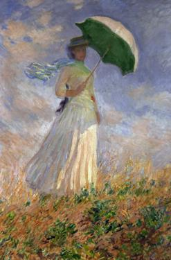 Woman with an Umbrella Turned to the Right by Claude Monet