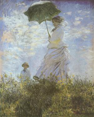 Woman with Parasol and Child by Claude Monet