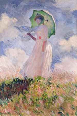 Woman with Parasol Turned to the Left, 1886 by Claude Monet