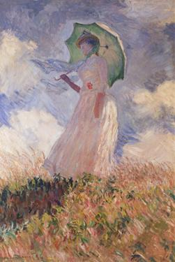 Woman with Parasol Turned to the Left (Suzanne Hoschedé), 1886 by Claude Monet