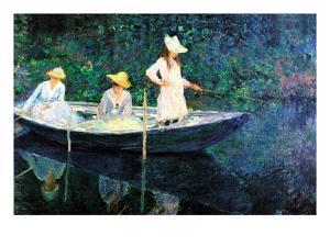 Women Fishing by Claude Monet