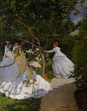 Women in the Garden at Ville D'Avray, 1867 by Claude Monet