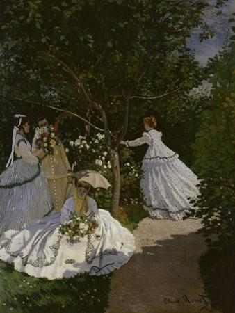Women in the Garden, c.1866 by Claude Monet
