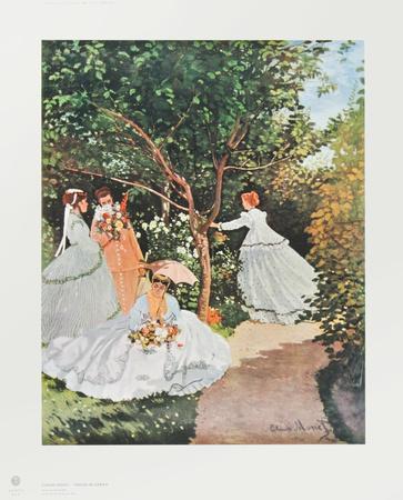 Amazing Women In The Garden By Claude Monet Gallery