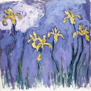 Yellow Iris with Pink Cloud, C.1918 by Claude Monet