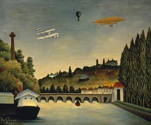 View of the Bridge at Sevres and the Hills at Clam by Claude Rousseau