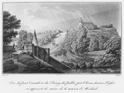 View of the Cacault Bridge and the Village of Pallet, Near Clisson, Ruins of the House of Abelard