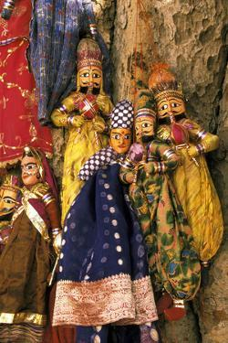 Asia, India, Amber. Paper mache puppets. by Claudia Adams