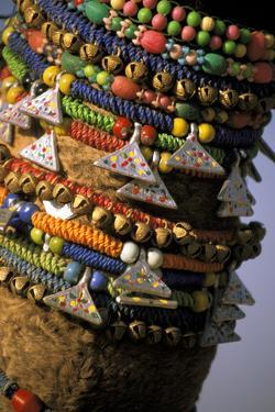 Asia, India, Pushkar. Camels necklaces, Pushkar Camel Festival. by Claudia Adams