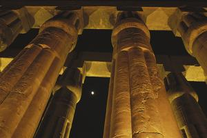Egypt, Luxor Egypt, Column of Amenophis Iii at Luxor Temple by Claudia Adams