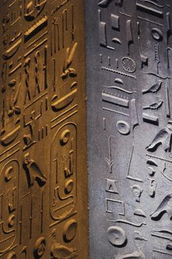 Egypt, Luxor, Hieroglyphics, Obelisk at Entrance by Claudia Adams