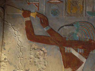 God Thoth Purifying Hetsheput at the Karnak Temple, Egypt