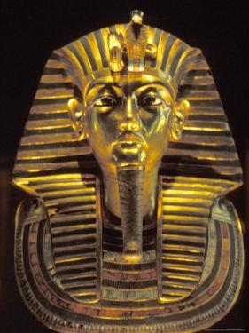 Gold Death Mask, Cairo, Egypt by Claudia Adams