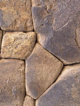 Intricate Rock Wall Detail, Ollantaytambo, Peru by Claudia Adams