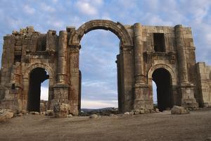 Jordan, Jerash, Main Entrance of Hadrian's Arch by Claudia Adams