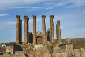 Jordan, Jerash, Temple of Artemis by Claudia Adams