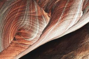 Jordan, Petra, Colorful Patterns in Sandstone Ancient by Claudia Adams