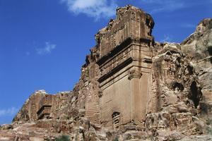 Jordan, Petra, Tomb of Aneishu Ancient City by Claudia Adams