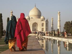 Women at Taj Mahal on River Yamuna, India by Claudia Adams