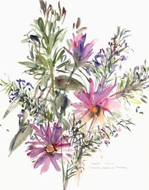 Floral, South African daisies and lavander, 2004 by Claudia Hutchins-Puechavy